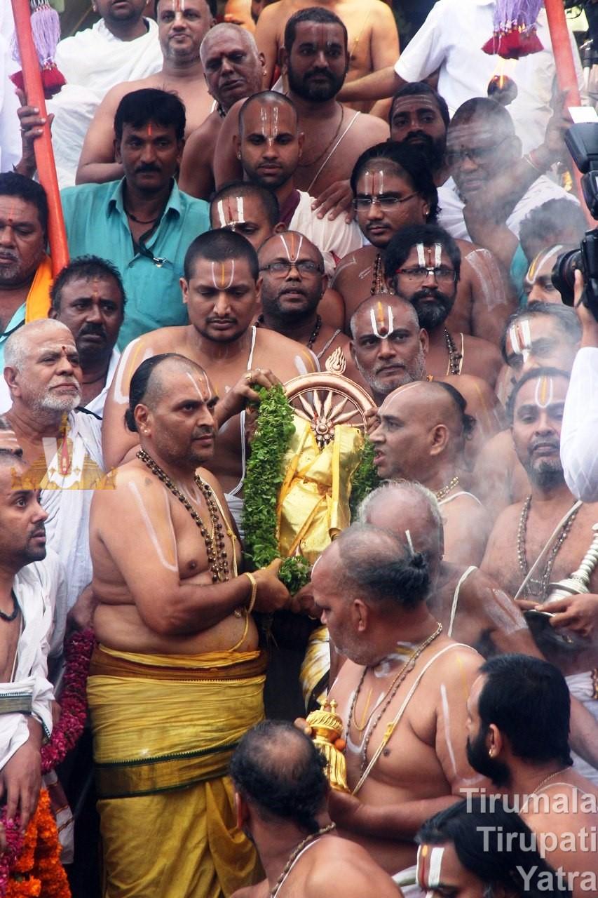 Sudarshana Chakram - Chakra Teertham