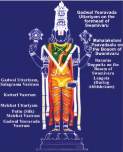 Vastrams of Lord Srinivasa, Tirumala