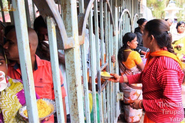 Distribution of Food to Pilgrims